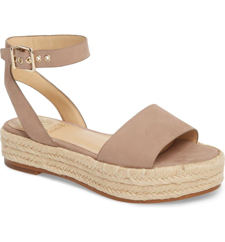 VINCE CAMUTO Kathalia Platform Sandal, Main, color, DUSTY MINK LEATHER