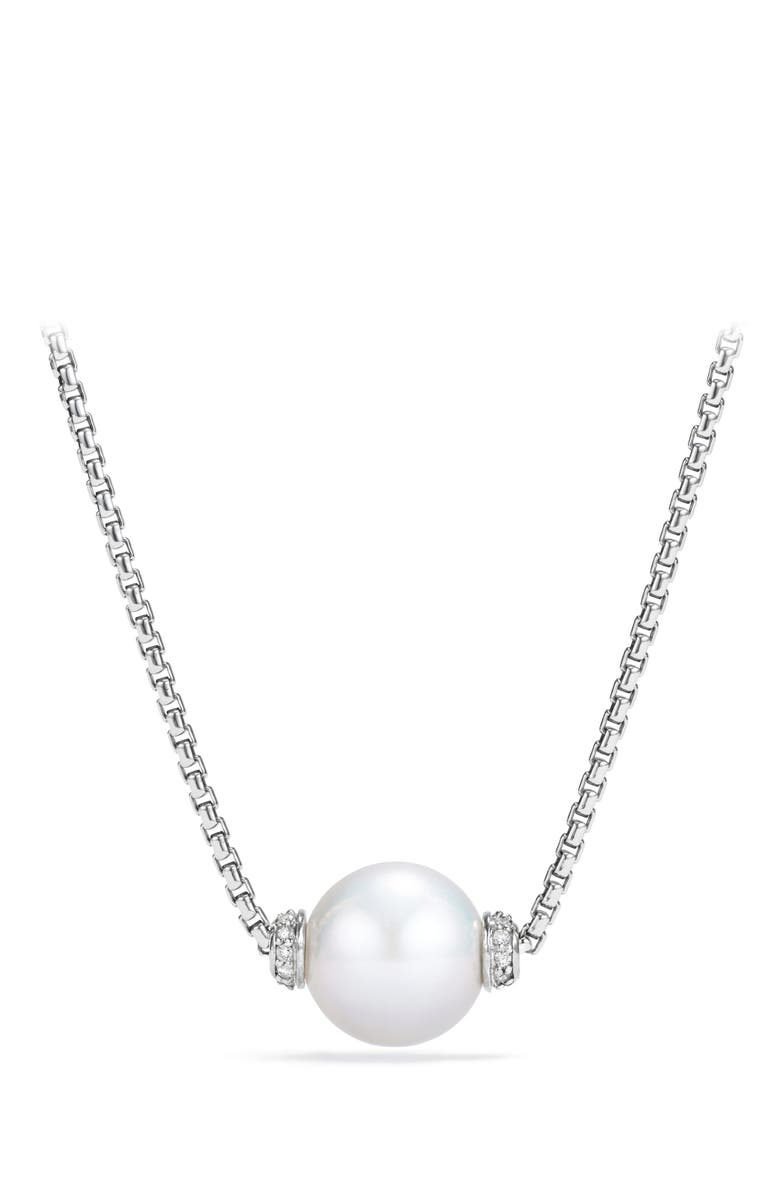 DAVID YURMAN Solari Pendant Necklace with Diamonds, Main, color, SILVER/ DIAMOND/ PEARL