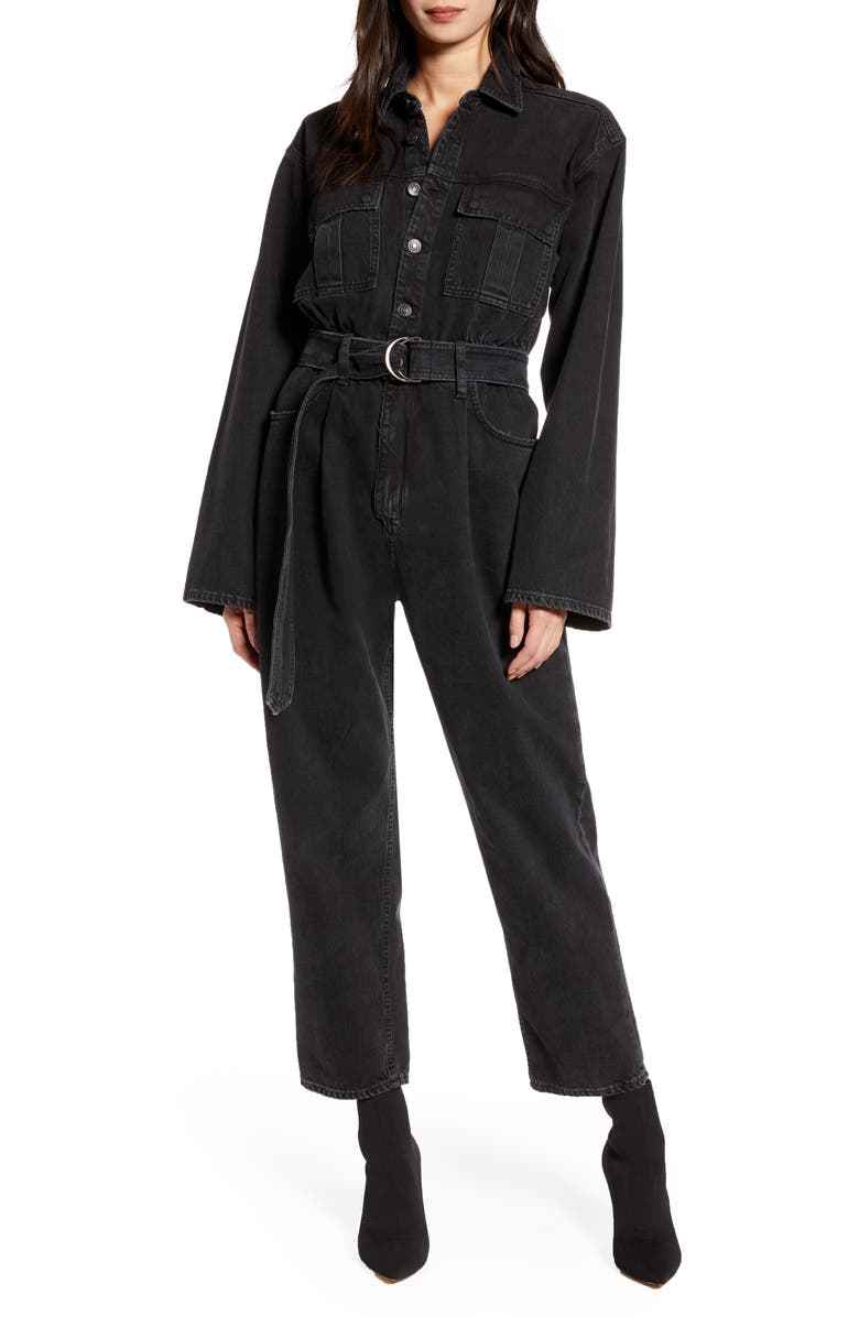 AGOLDE Tatum Cotton Denim Jumpsuit, Main, color, SHADE