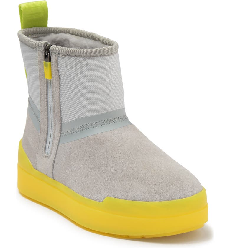 UGG Classic Tech Genuine Shearling Lined Mini Boot, Main, color, GREY