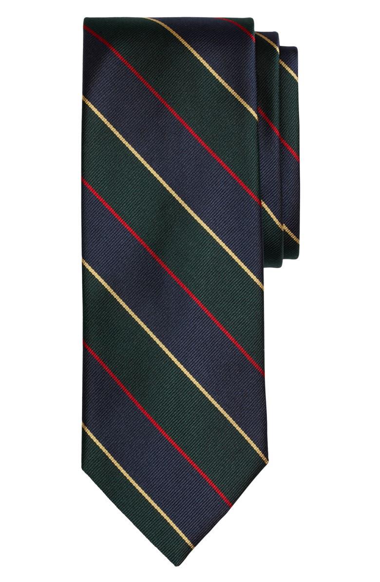 BROOKS BROTHERS Stripe Silk Tie, Main, color, 300