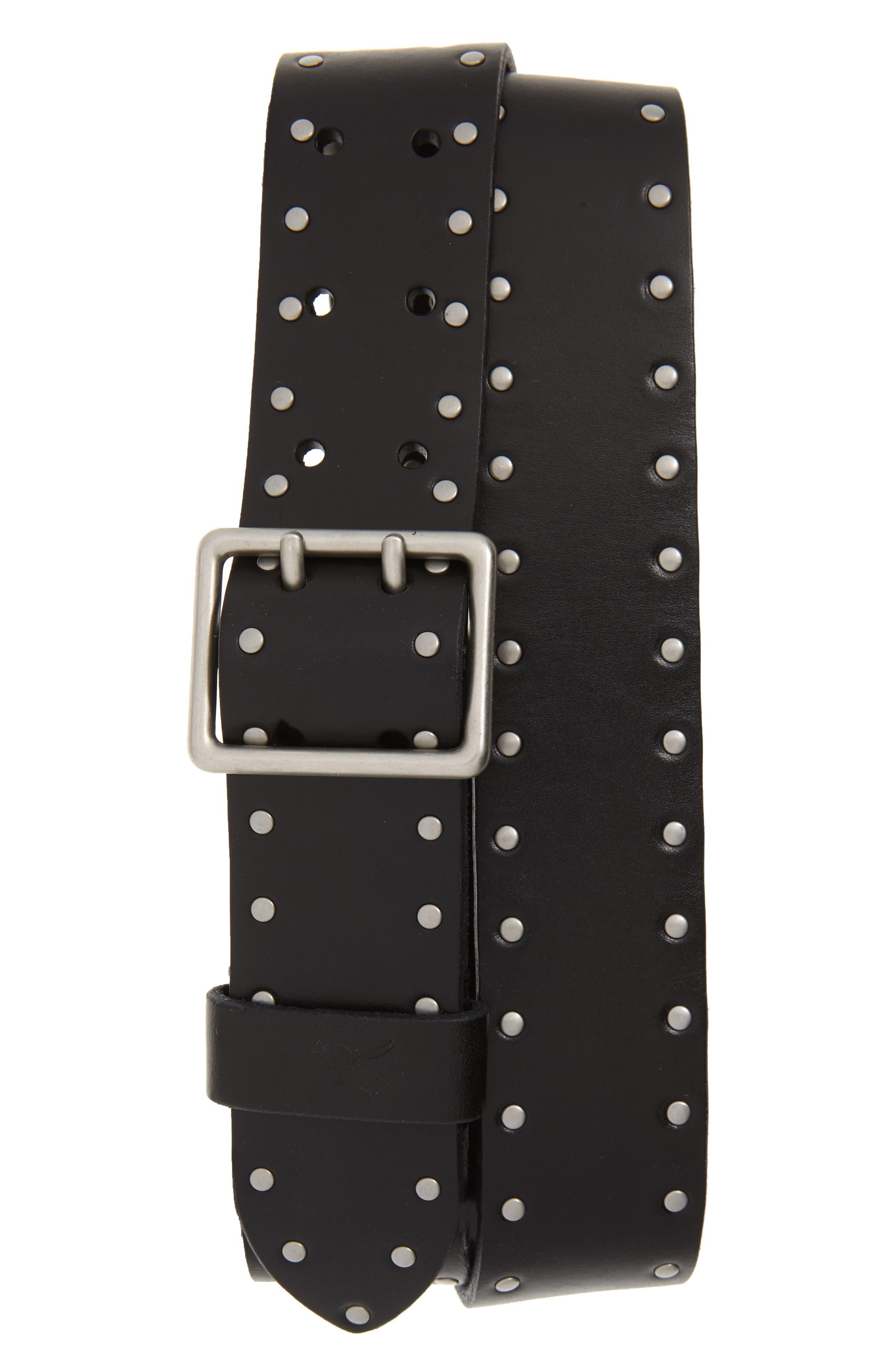 Allsaints Belt Studded Leather Belt