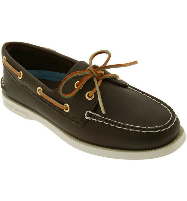SPERRY 'Authentic Original' Boat Shoe, Main, color, BROWN