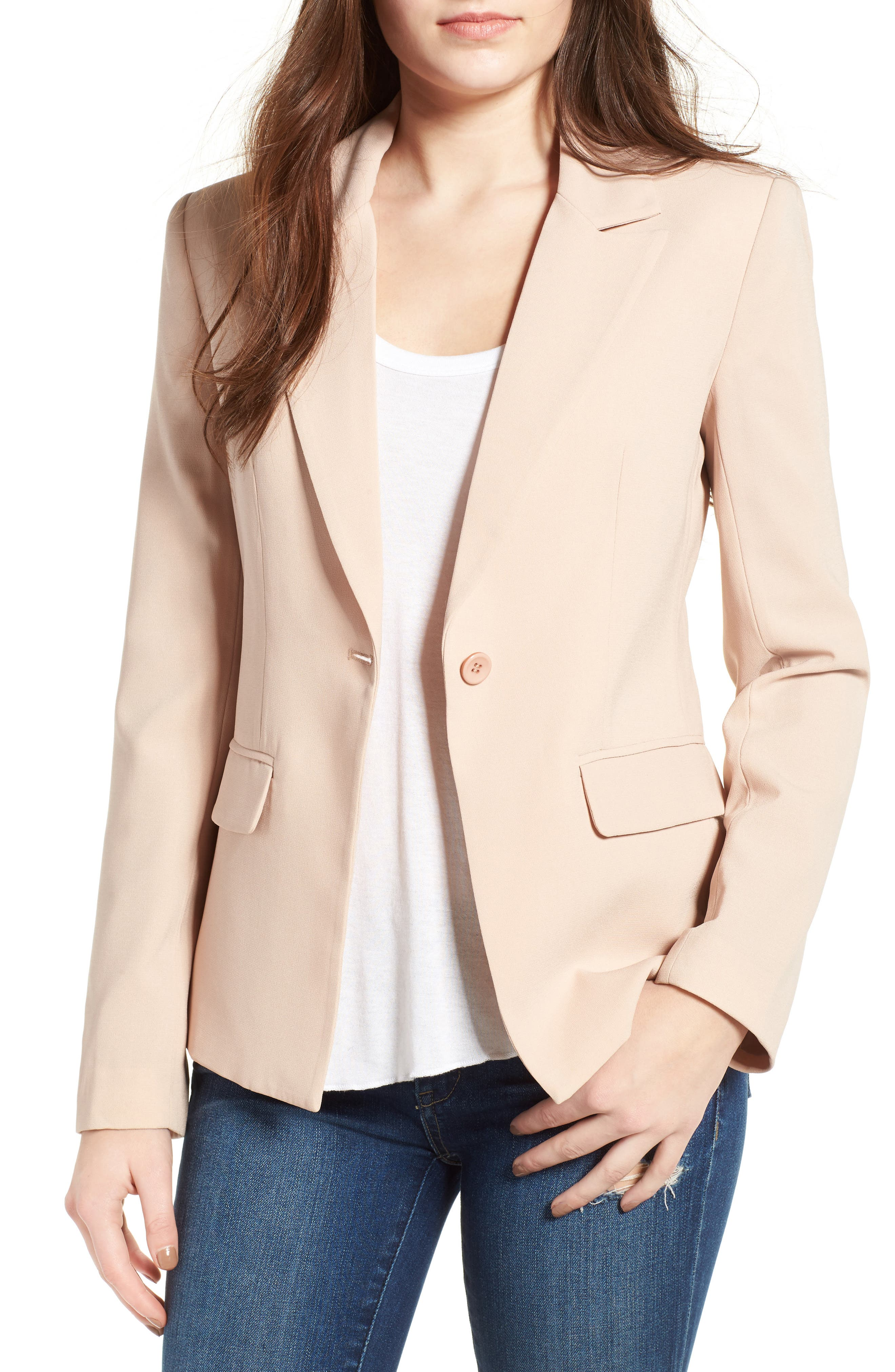 ,                             Structured Blazer,                             Main thumbnail 12, color,                             256