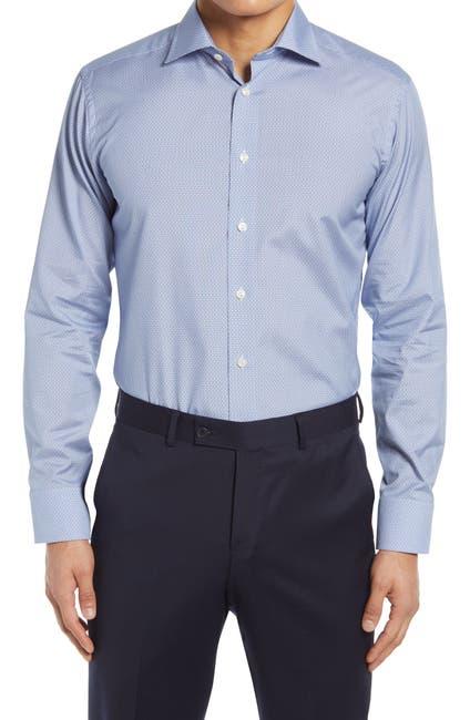 Image of Eton Slim Fit Print Dress Shirt