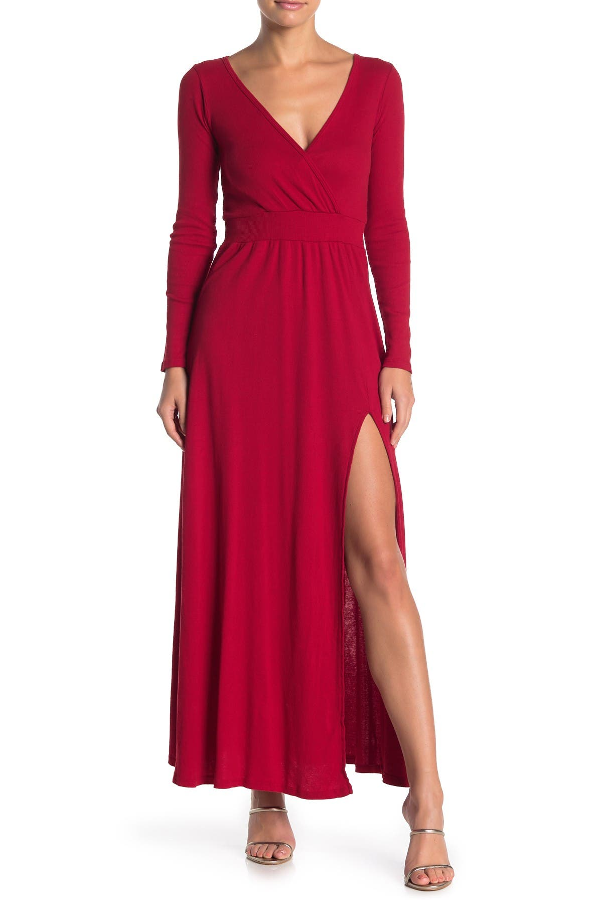 Image of Go Couture Slit Maxi Dress