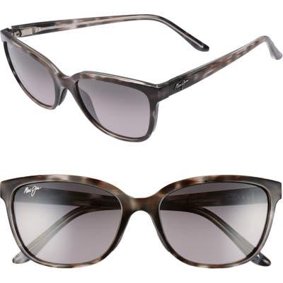 Maui Jim Honi 5m Polarizedplus2 Cat Eye Sunglasses - Grey Tortoise Stripe