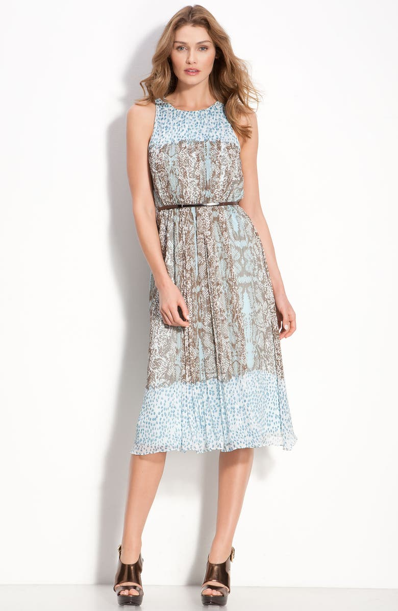 VINCE CAMUTO Sleeveless Print Chiffon Midi Dress, Main, color, 400