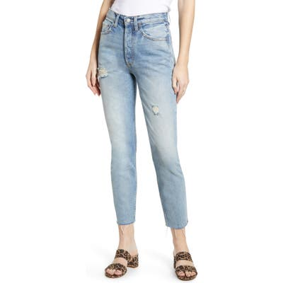 Boyish Jeans The Billy High Waist Ankle Skinny Jeans, Blue