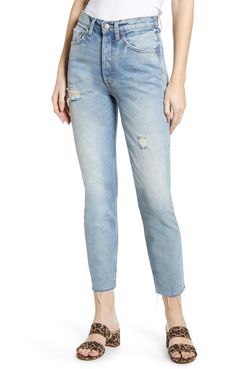 BOYISH JEANS The Billy High Waist Ankle Skinny Jeans, Main, color, TAXI DRIVER