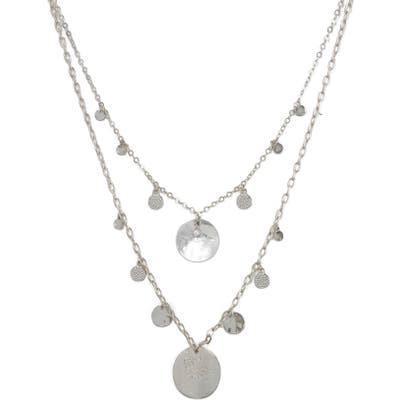 Ettika Set Of 2 Disc Station Necklaces