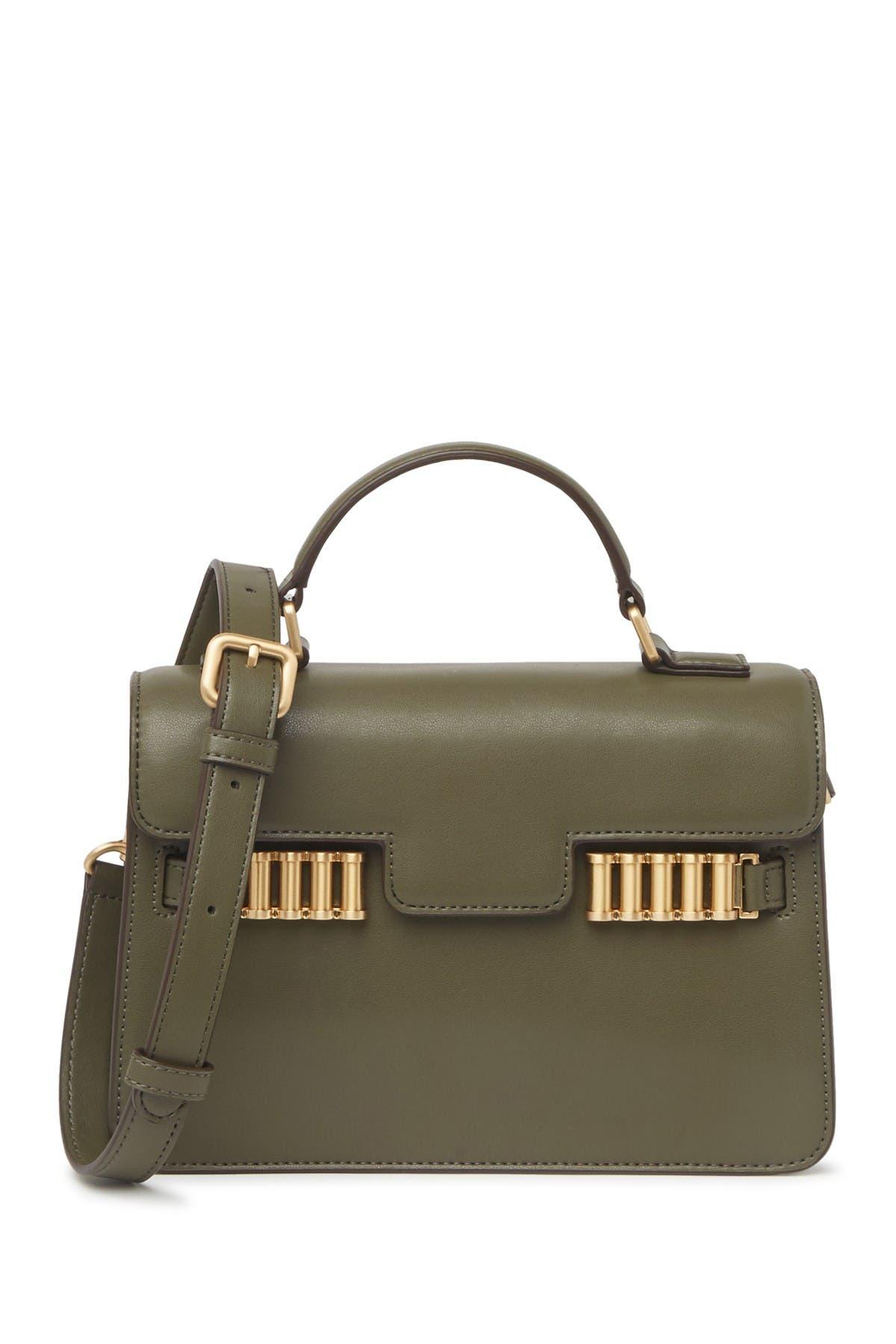 Image of Donna Karan Paola Small Leather Crossbody Bag