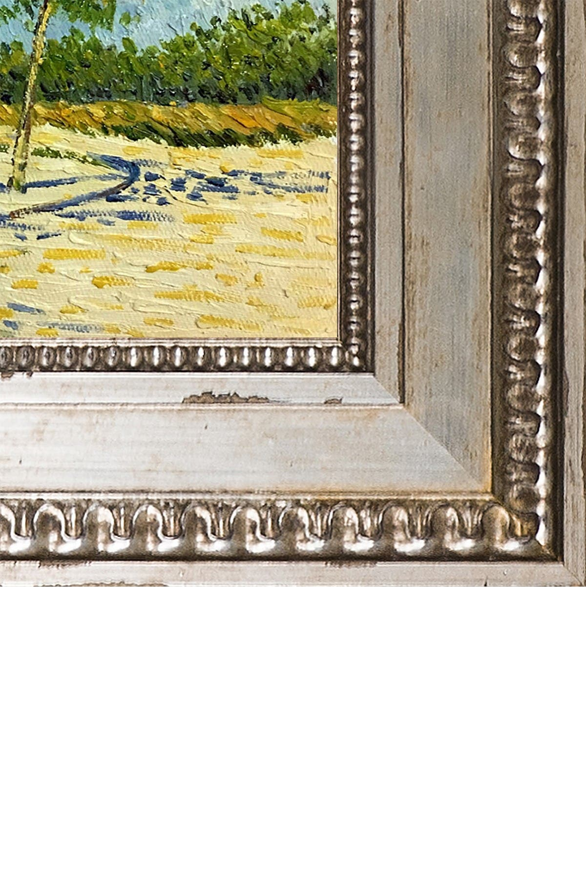 Image of Overstock Art On the Outskirts of Paris - Framed Oil Reproduction of an Original Painting by Vincent Van Gogh