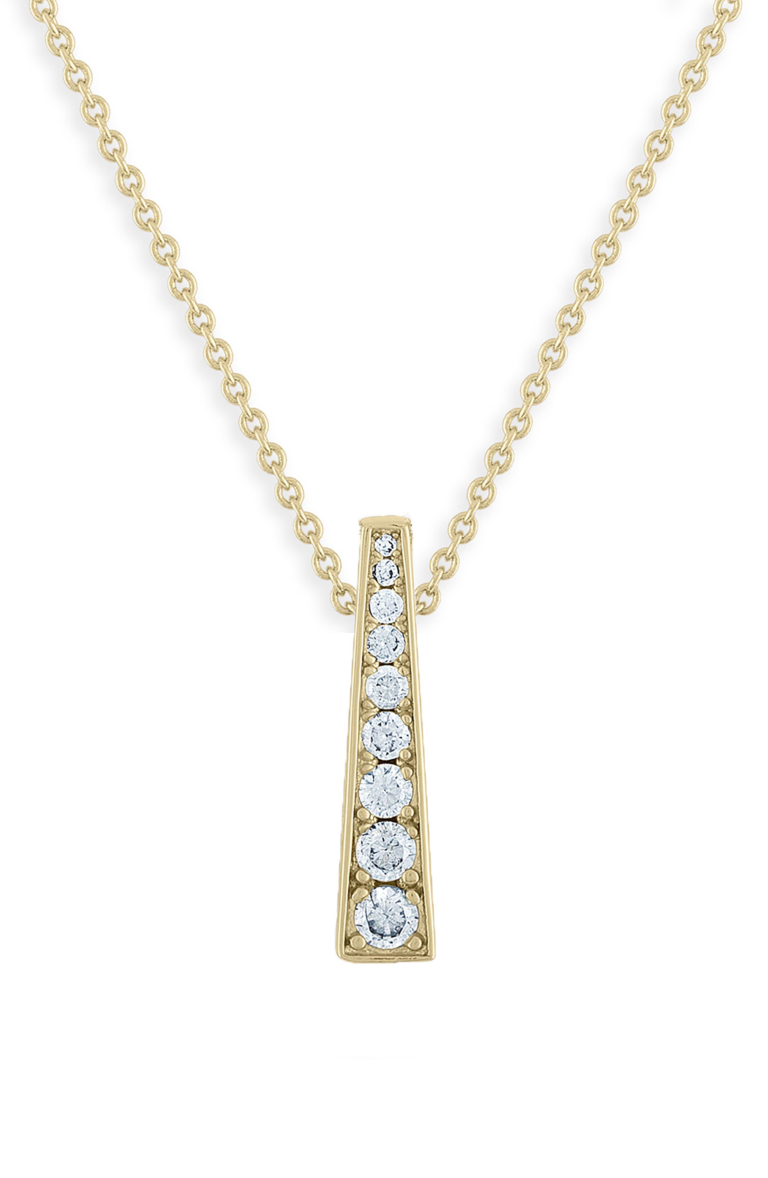 x Jeff K. Kim Pyramid Pendant Necklace, Main, color, GOLD