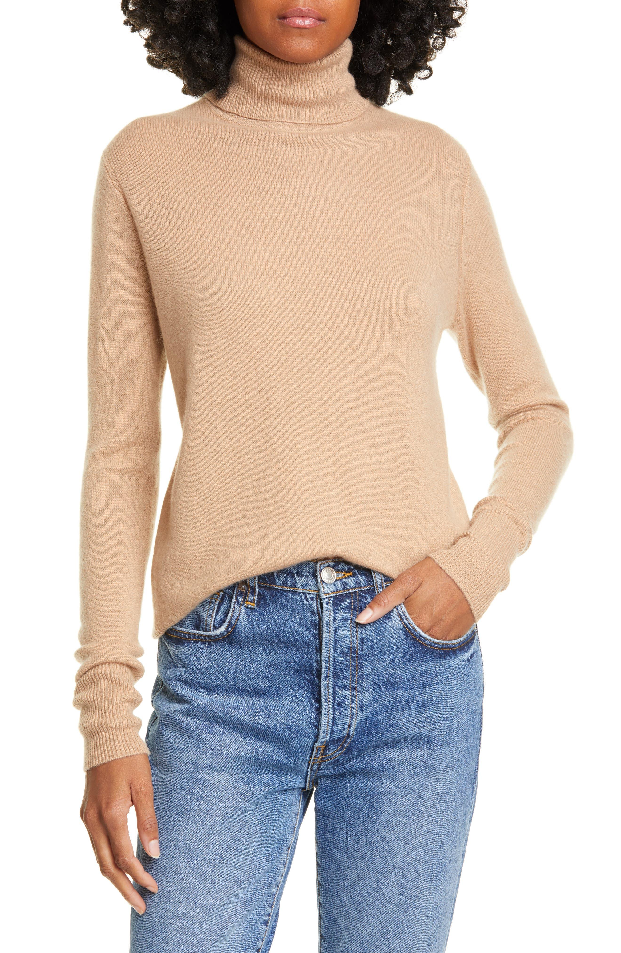 Equipment Tops Delafine Cashmere Turtleneck Sweater