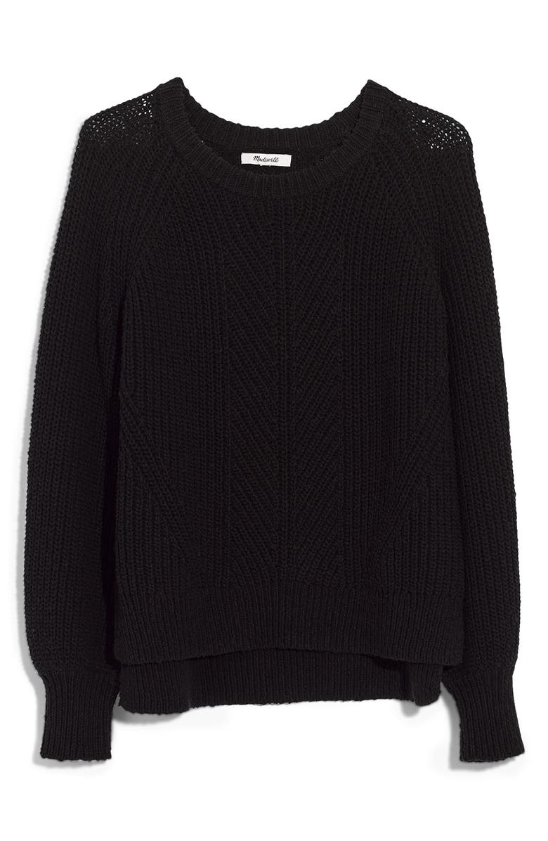 MADEWELL Balloon Sleeve Pullover Sweater, Main, color, 001