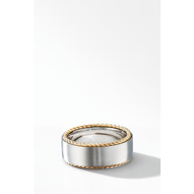 David Yurman Streamline Cable Band Ring With 18K Yellow Gold
