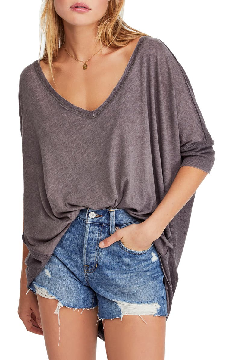 FREE PEOPLE Catch Waves Tee, Main, color, 001