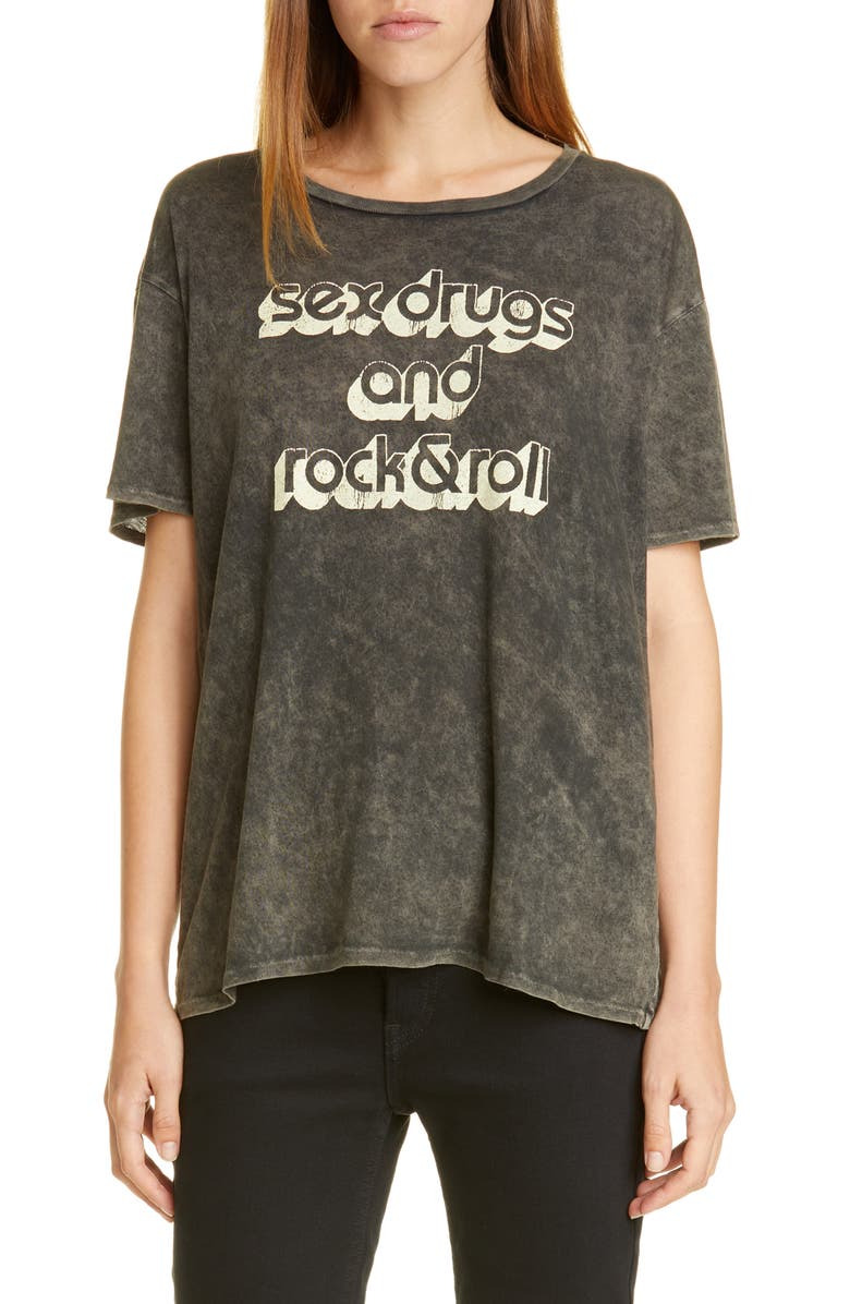 R13 Rock & Roll Boy Tee, Main, color, 001