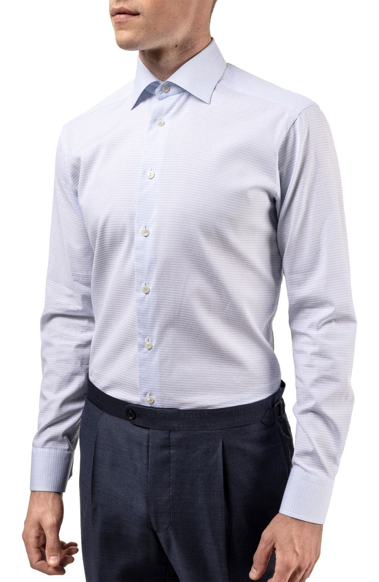 ETON Contemporary Fit Textured Dress Shirt, Main, color, BLUE
