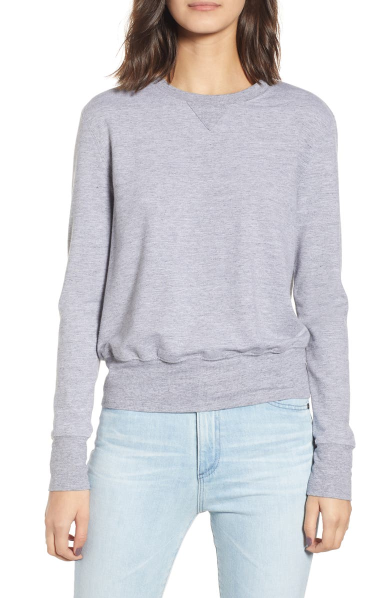 AG Rae Crewneck Sweatshirt, Main, color, HEATHER GREY