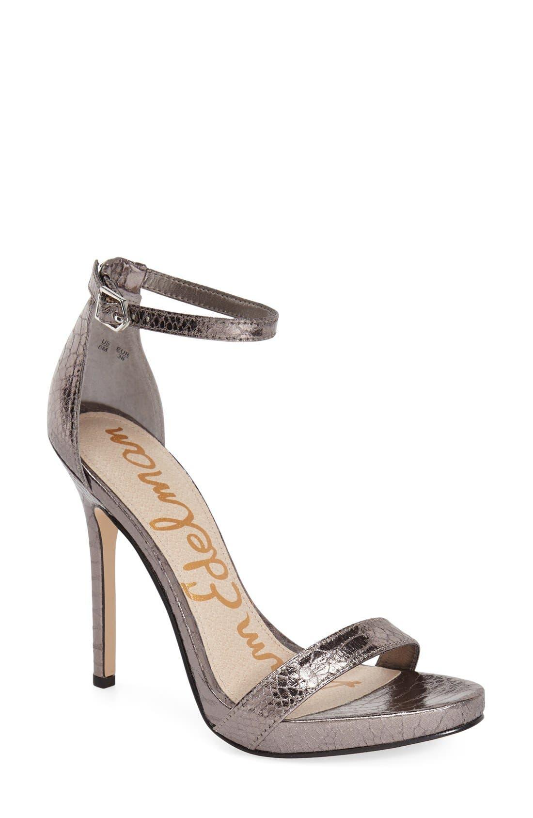 ,                             'Eleanor' Ankle Strap Sandal,                             Main thumbnail 49, color,                             020