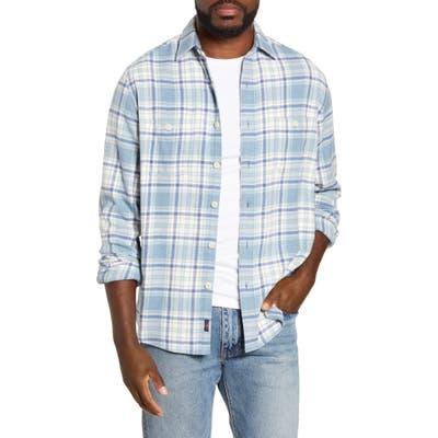Faherty Seasons Regular Fit Plaid Flannel Button-Up Shirt, Blue