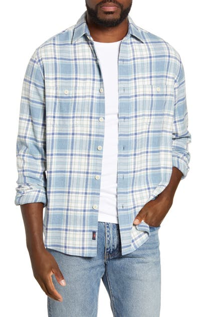 Faherty SEASONS REGULAR FIT PLAID FLANNEL BUTTON-UP SHIRT