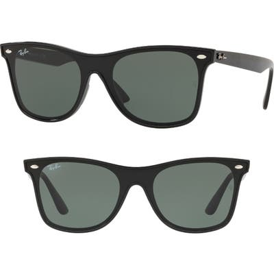 Ray-Ban Blaze 41Mm Wayfarer Sunglasses - Black Solid