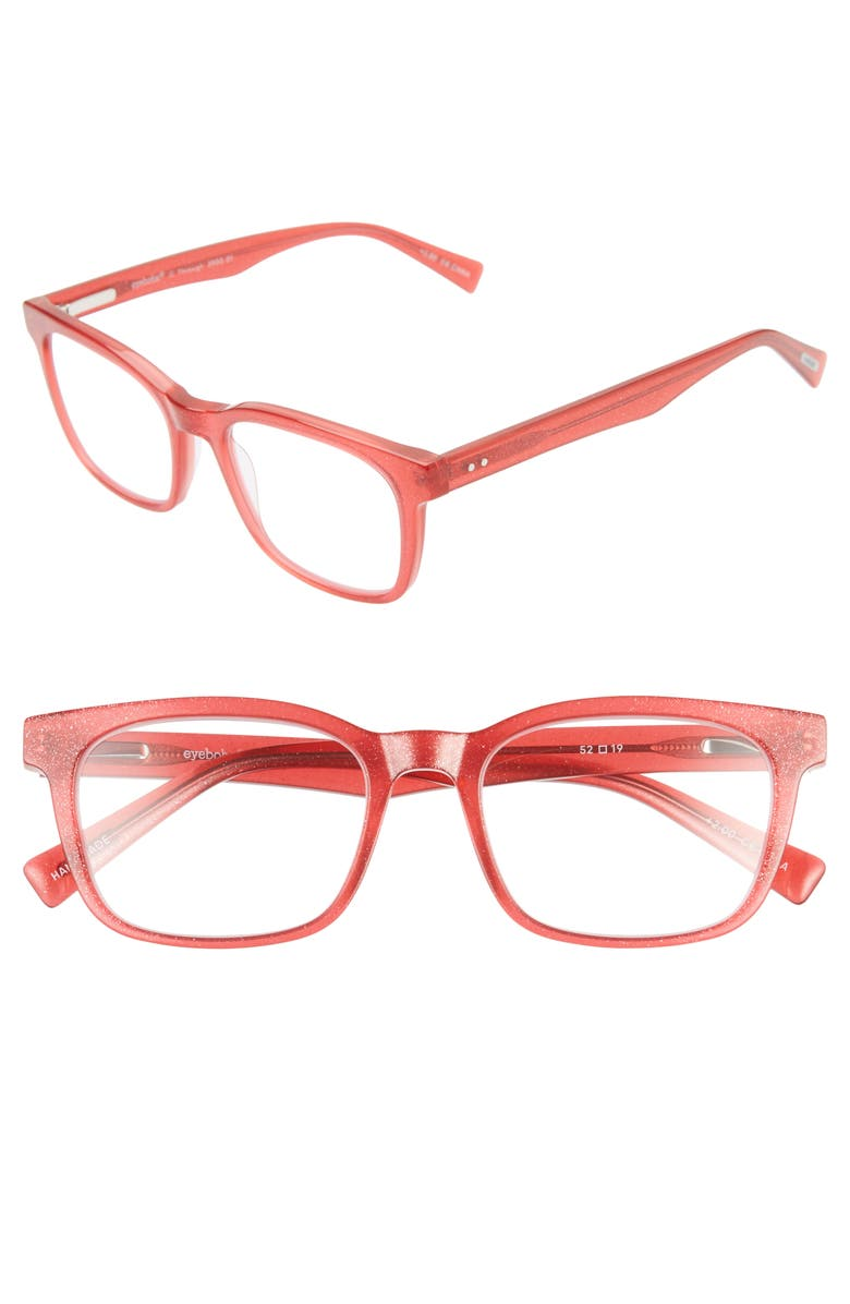 EYEBOBS C-Through 52mm Reading Glasses, Main, color, BRIGHT RED