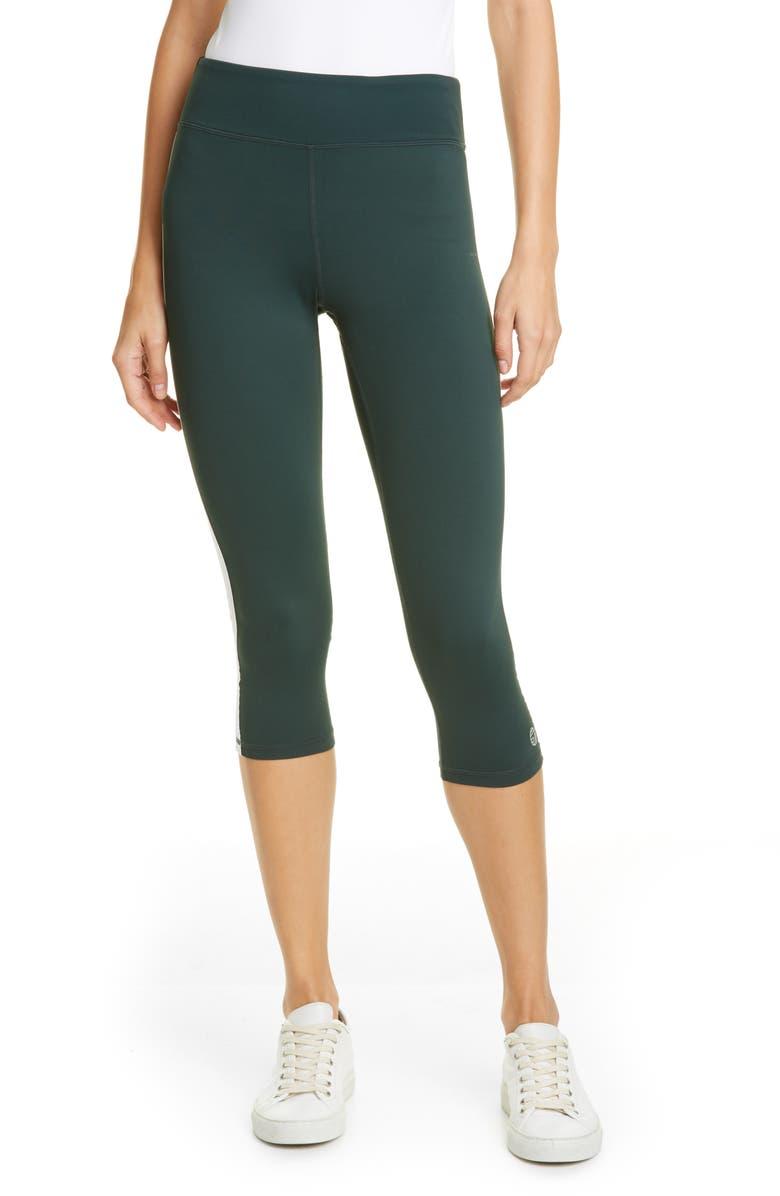 TORY SPORT Hi-Vis Crop Leggings, Main, color, CONIFER