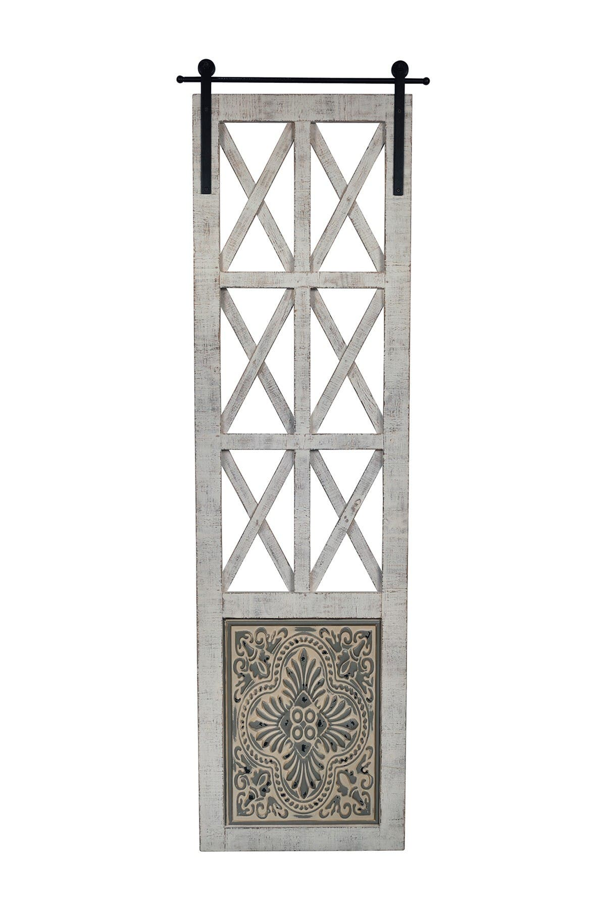 Image of Stratton Home Distressed Door Panel Wall Decor