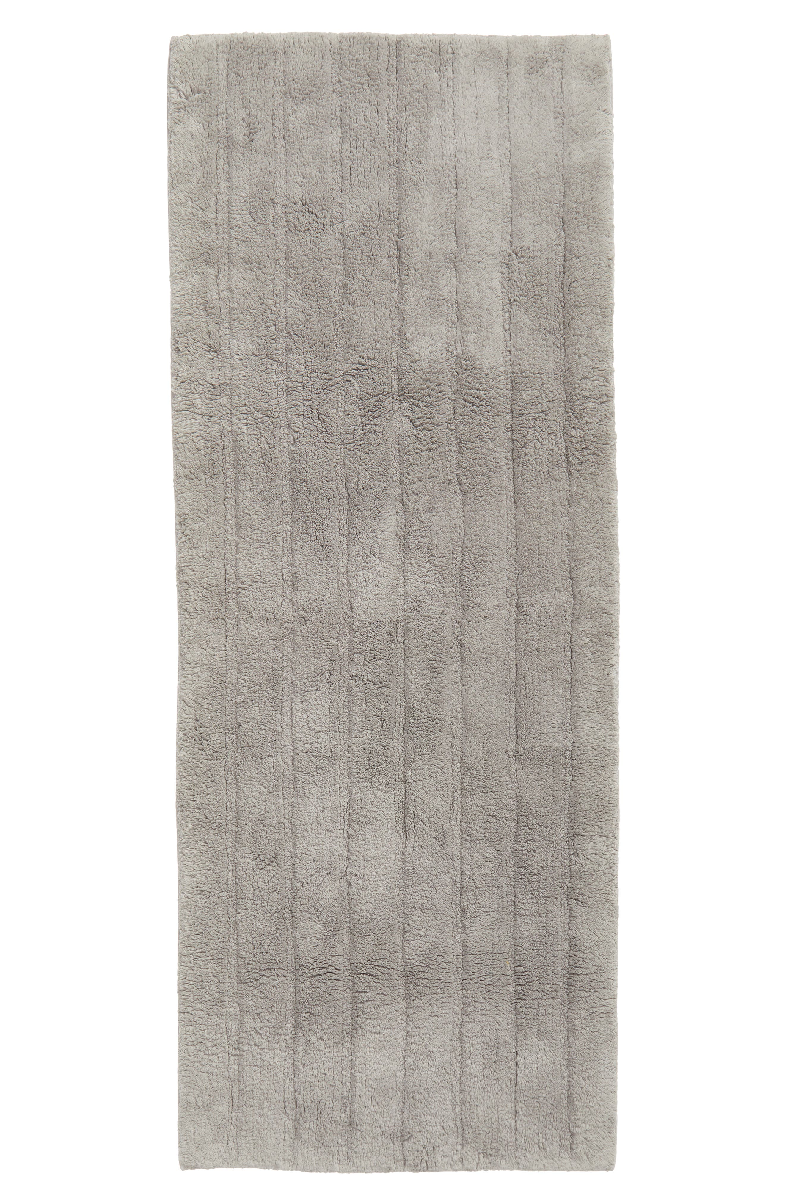 Nordstrom At Home Ribbed Velour Bath Runner Size One Size  Grey