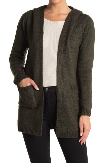 Image of Love by Design Solid Mossy Hooded Cardigan