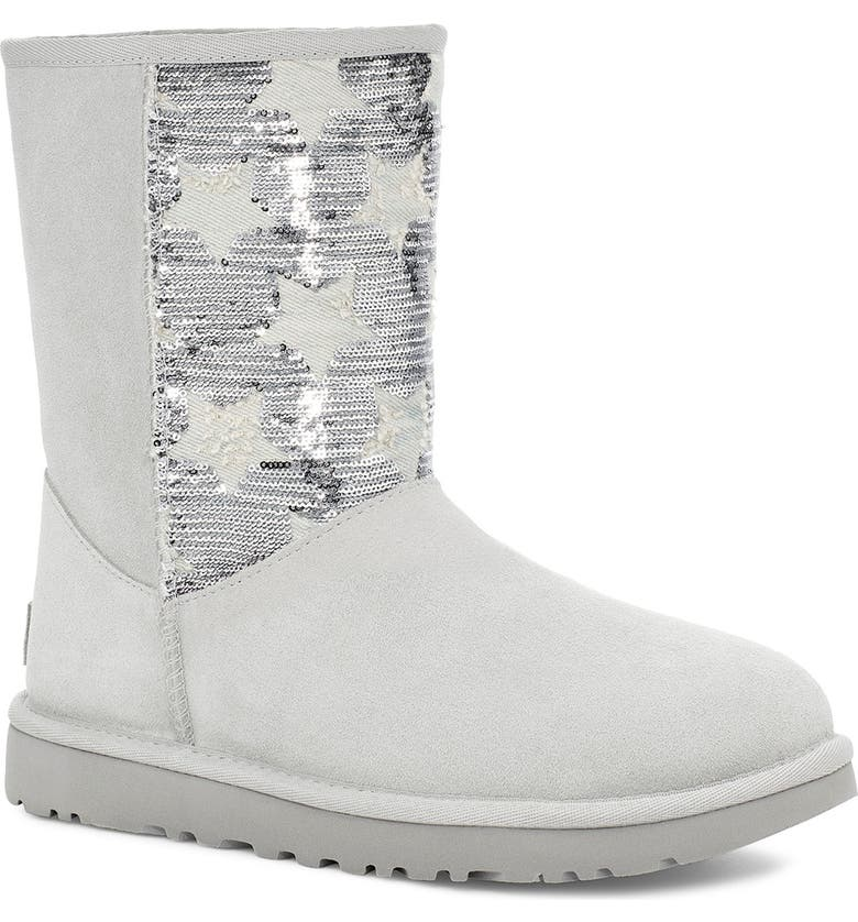 UGG<SUP>®</SUP> CLASSIC Sequin Stars Short Boot, Main, color, 059
