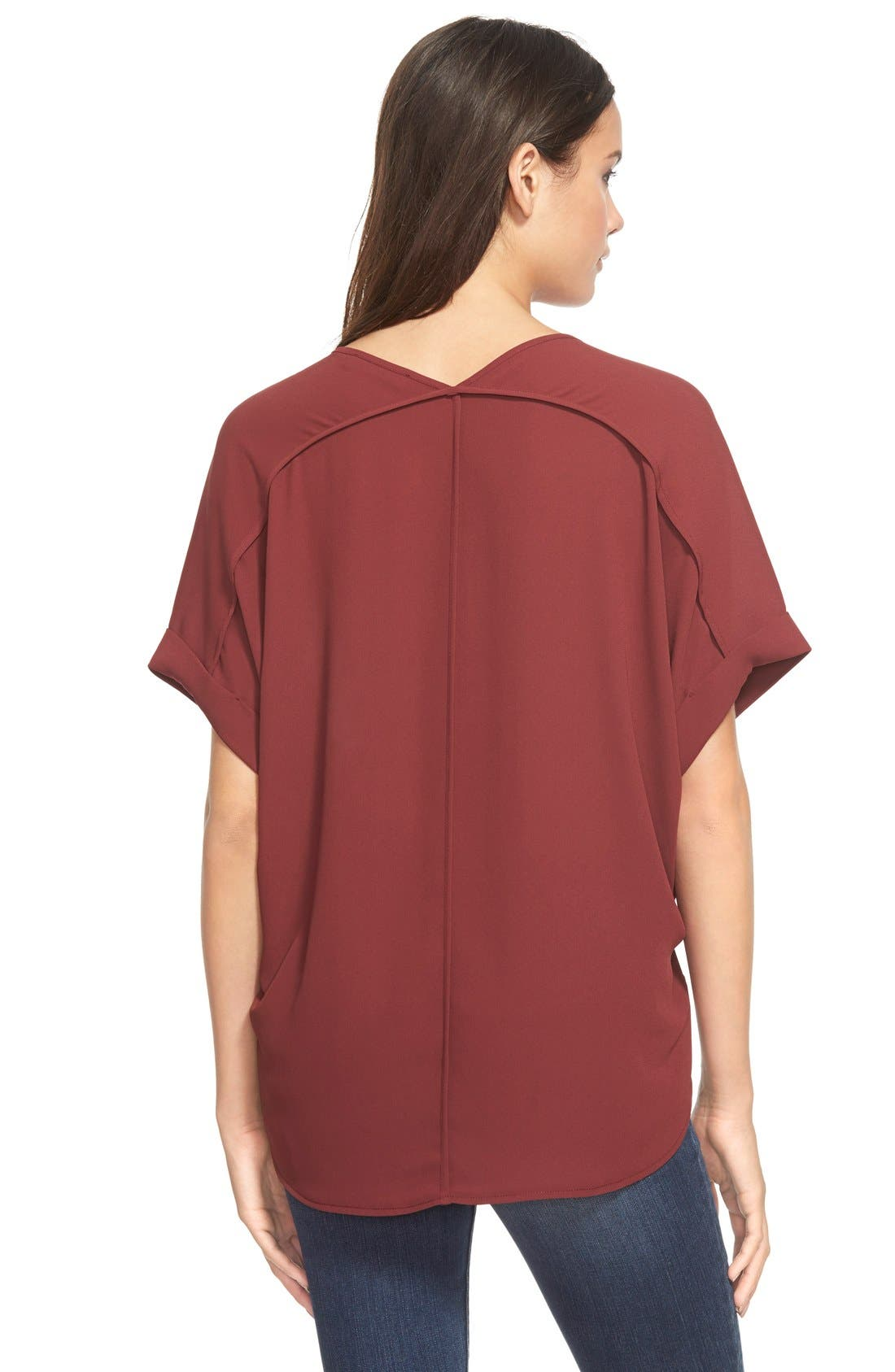 ,                             Lush Cuff Sleeve Woven Tee,                             Alternate thumbnail 150, color,                             608