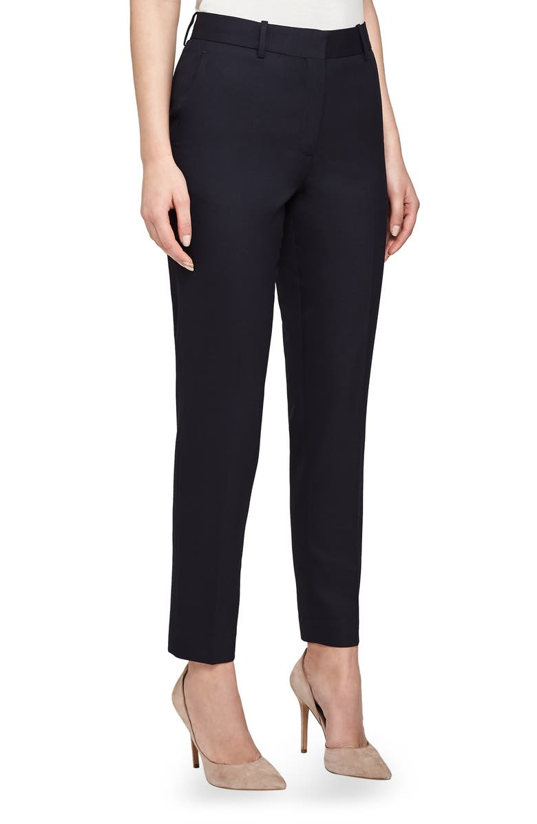 REISS Hartley Slim Textured Trousers, Main, color, NAVY