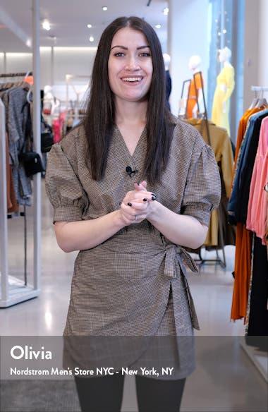 Mimi Floral Pleated Ruffle Dress, sales video thumbnail