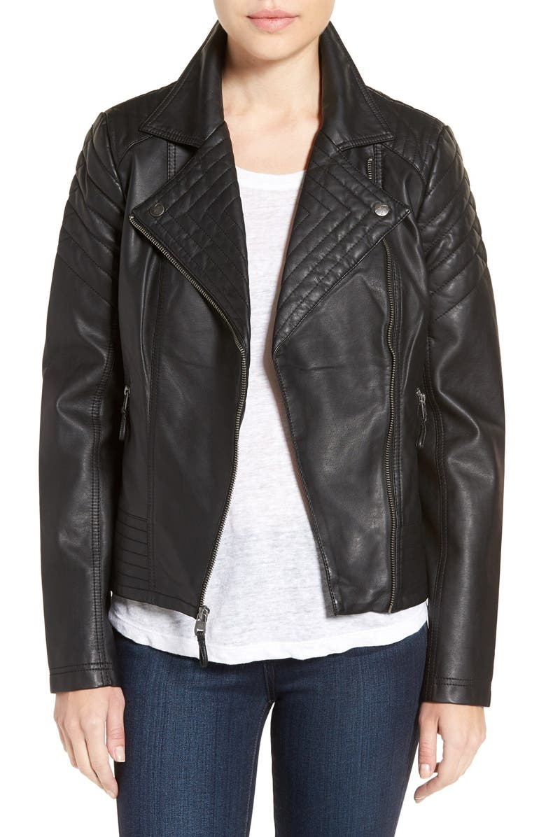 official site low cost super service Jessica Simpson Quilted Faux Leather Jacket | Nordstrom