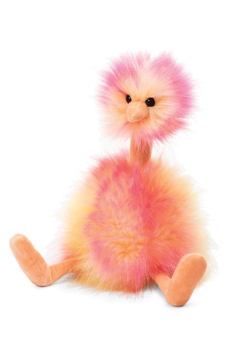 JELLYCAT Sorbet Pompom Stuffed Animal, Main, color, PINK/ YELLOW