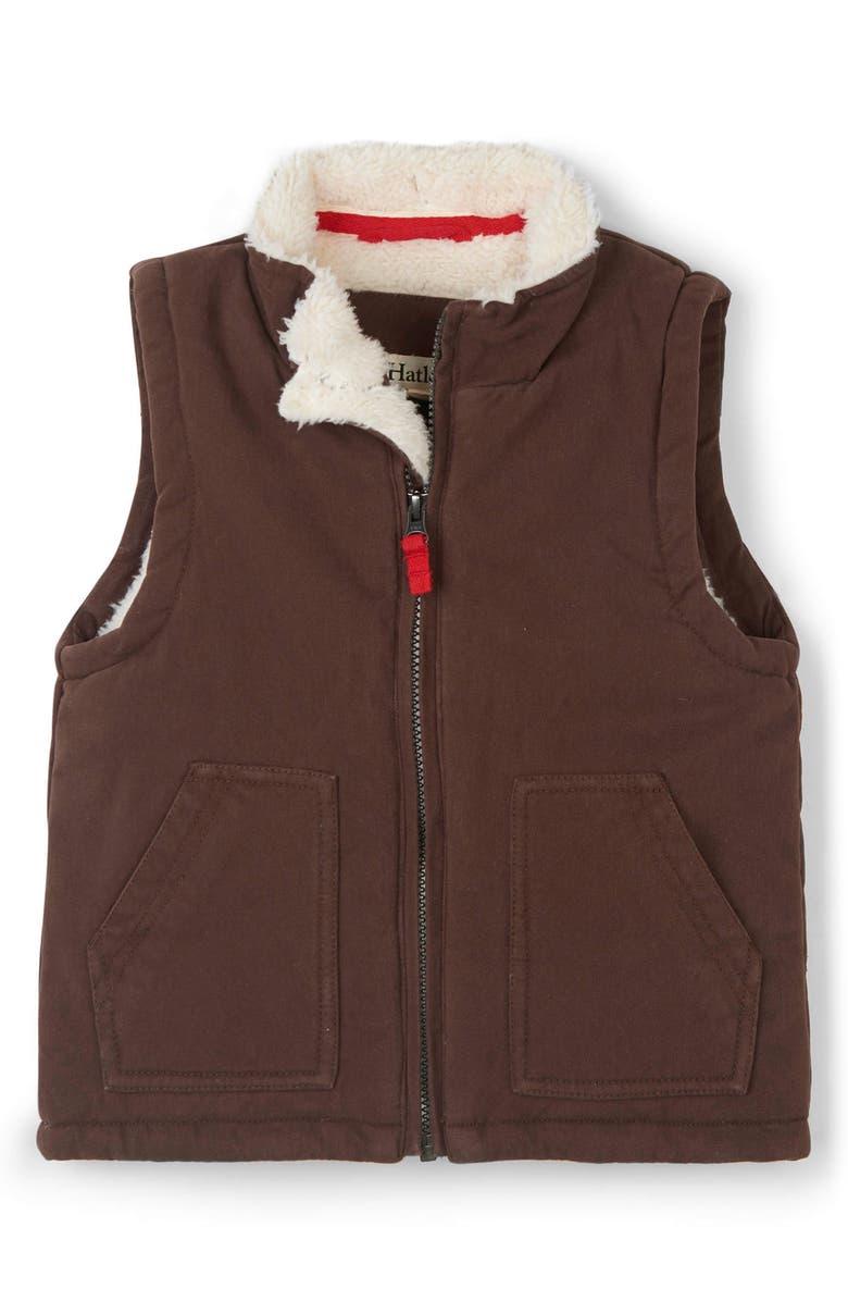 HATLEY Fleece Lined Vest, Main, color, BROWN