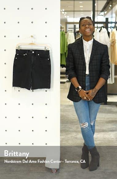 High Waist Mid Length Denim Shorts, sales video thumbnail