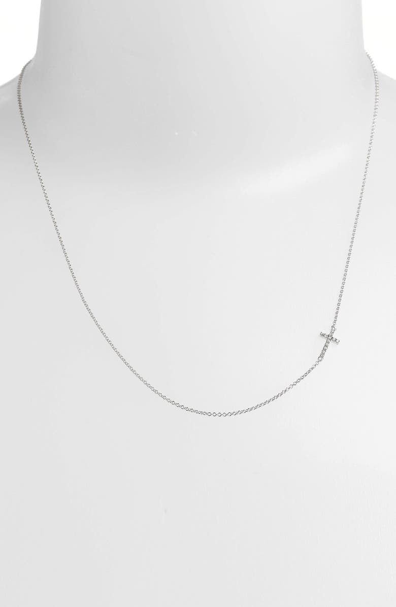 BONY LEVY Reversible Diamond Cross Pendant Necklace, Main, color, WHITE GOLD