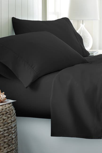 Image of IENJOY HOME Queen Hotel Collection Premium Ultra Soft 4-Piece Bed Sheet Set - Black