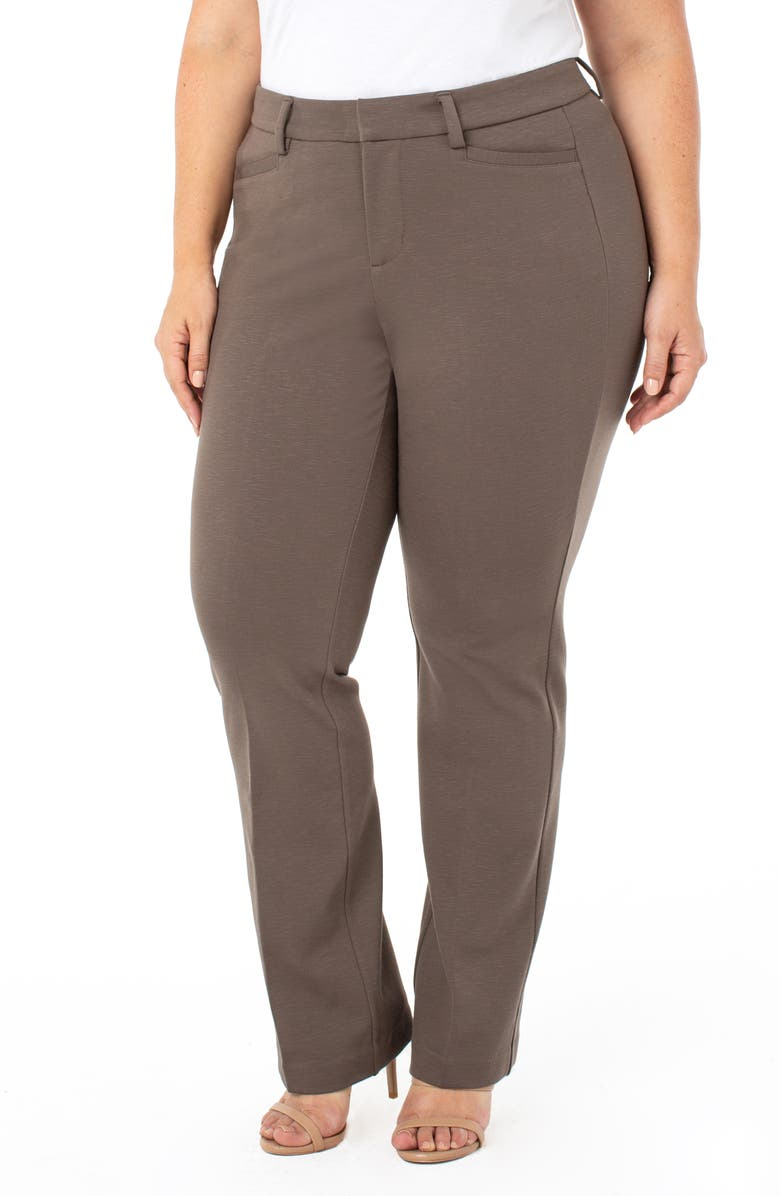 LIVERPOOL Bootcut Trousers, Main, color, BANYAN