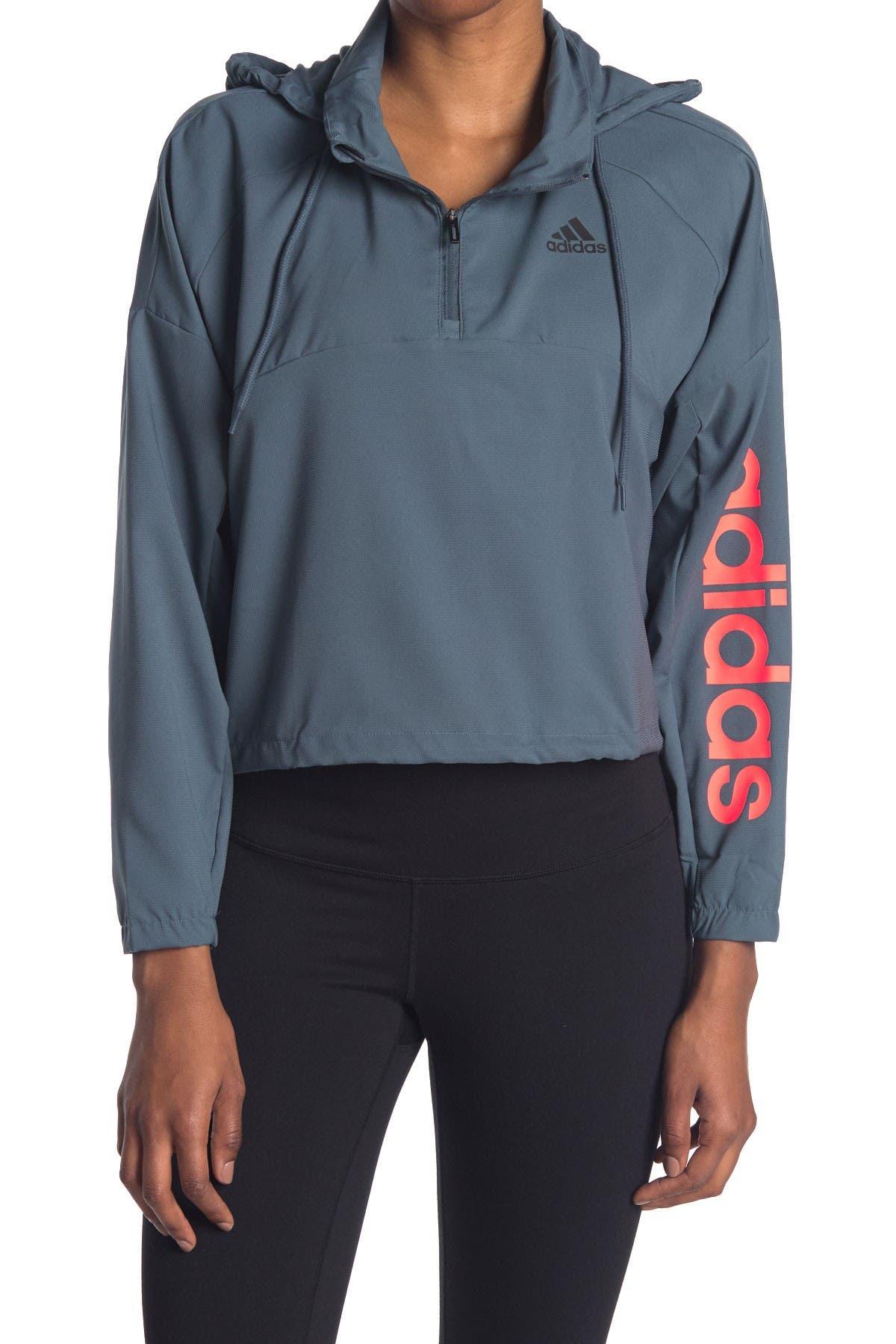 Image of adidas Cropped 3/4 Zip Hoodie