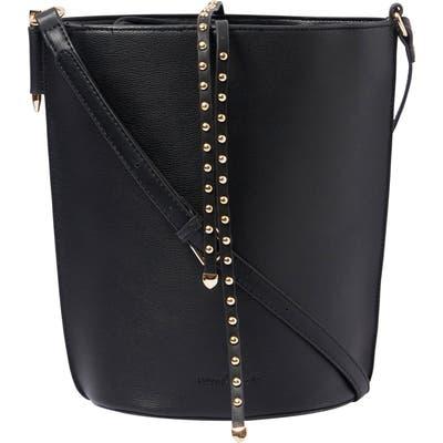 Urban Originals Lights Camera Studded Vegan Leather Bucket Bag - Black