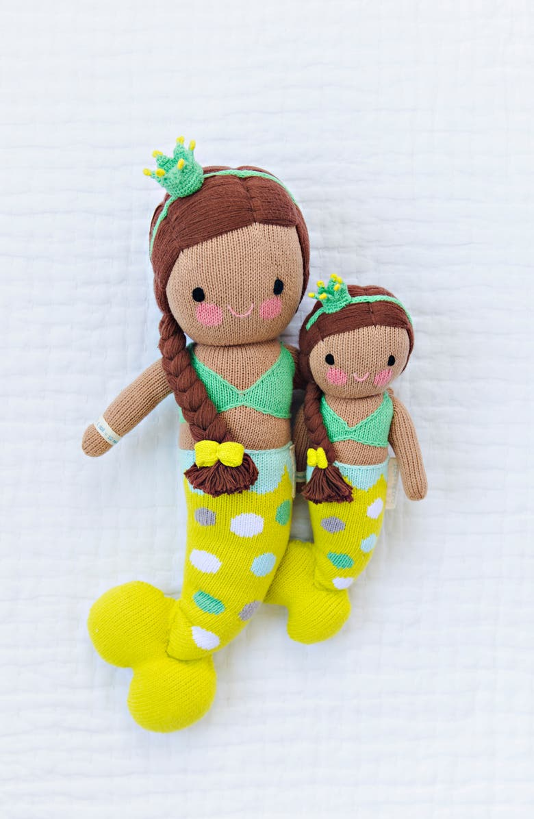 CUDDLE+KIND cuddle + kind Pearl the Mermaid Stuffed Animal, Main, color, GREEN