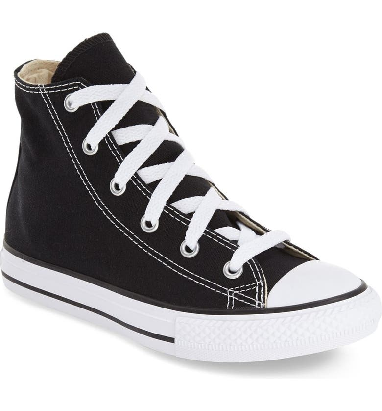 CONVERSE Chuck Taylor<sup>®</sup> High Top Sneaker, Main, color, BLACK