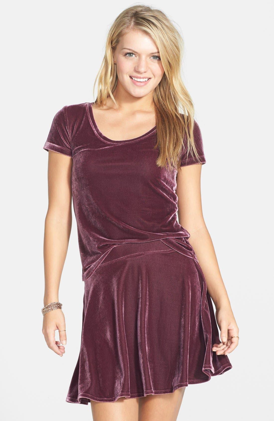 ,                             Velour Skater Skirt,                             Alternate thumbnail 10, color,                             938